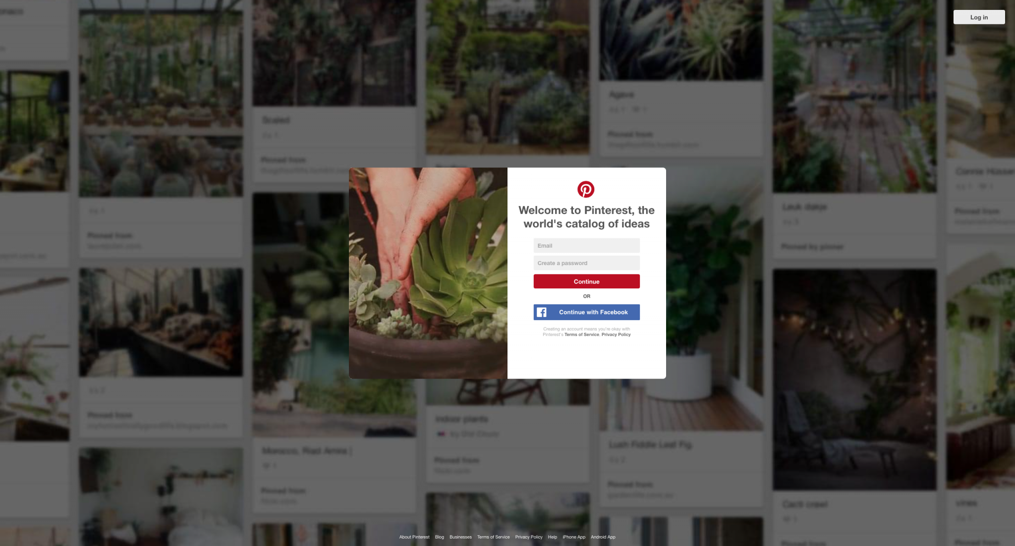 Pinterest Homepage Backdrop for Clarification