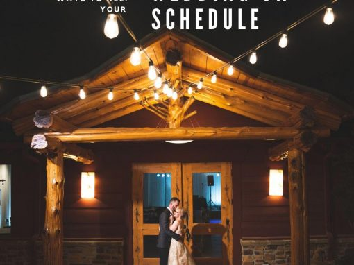 Five Functional Ways to Keep Your Wedding on Schedule!