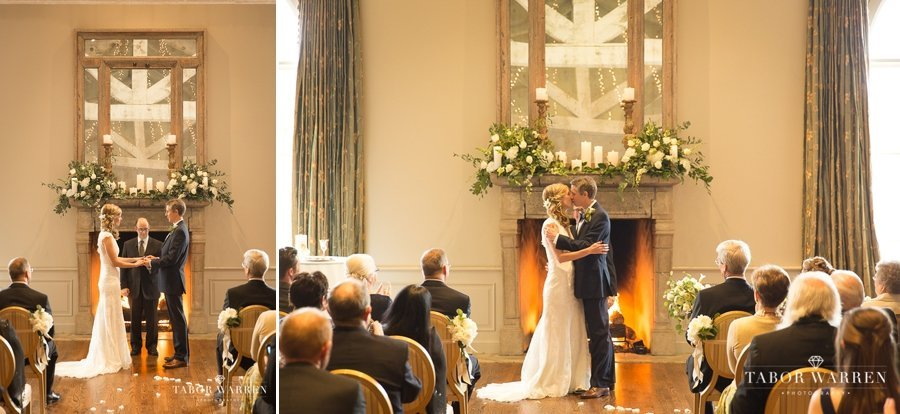 Southern Hills Country Club wedding first kiss